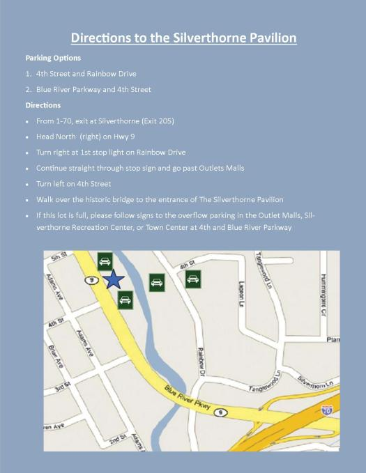 Directions to the Pavilion (Guests)